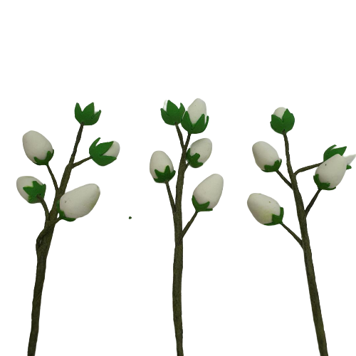 Wired Filler Flower Sepal Buds Colour White  Sugarcraft