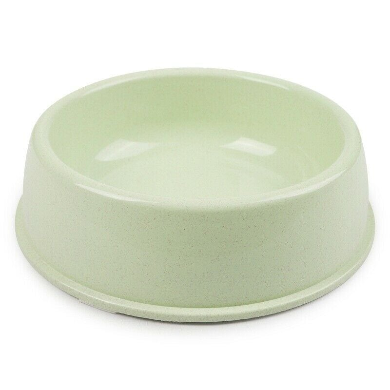 Pets Empire Pet Single Round Bowl Easy Cleaning Pet Bowl For Dog And Cat Made Of Environmental Health Plastic Safe Non-Toxic (Small Size),Pack Of 1 (Green)