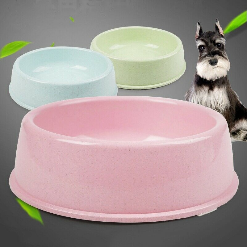 Pets Empire Pet Single Round Bowl Easy Cleaning Pet Bowl For Dog And Cat Made Of Environmental Health Plastic Safe Non-Toxic (Large Size)Pack Of 1 (Green)