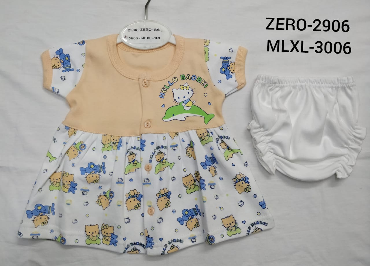 Only Me Girls Short Sleeve Frock  With Panty For Your Cute Lil Princess | Pack Of 3 (M(RPP-120))