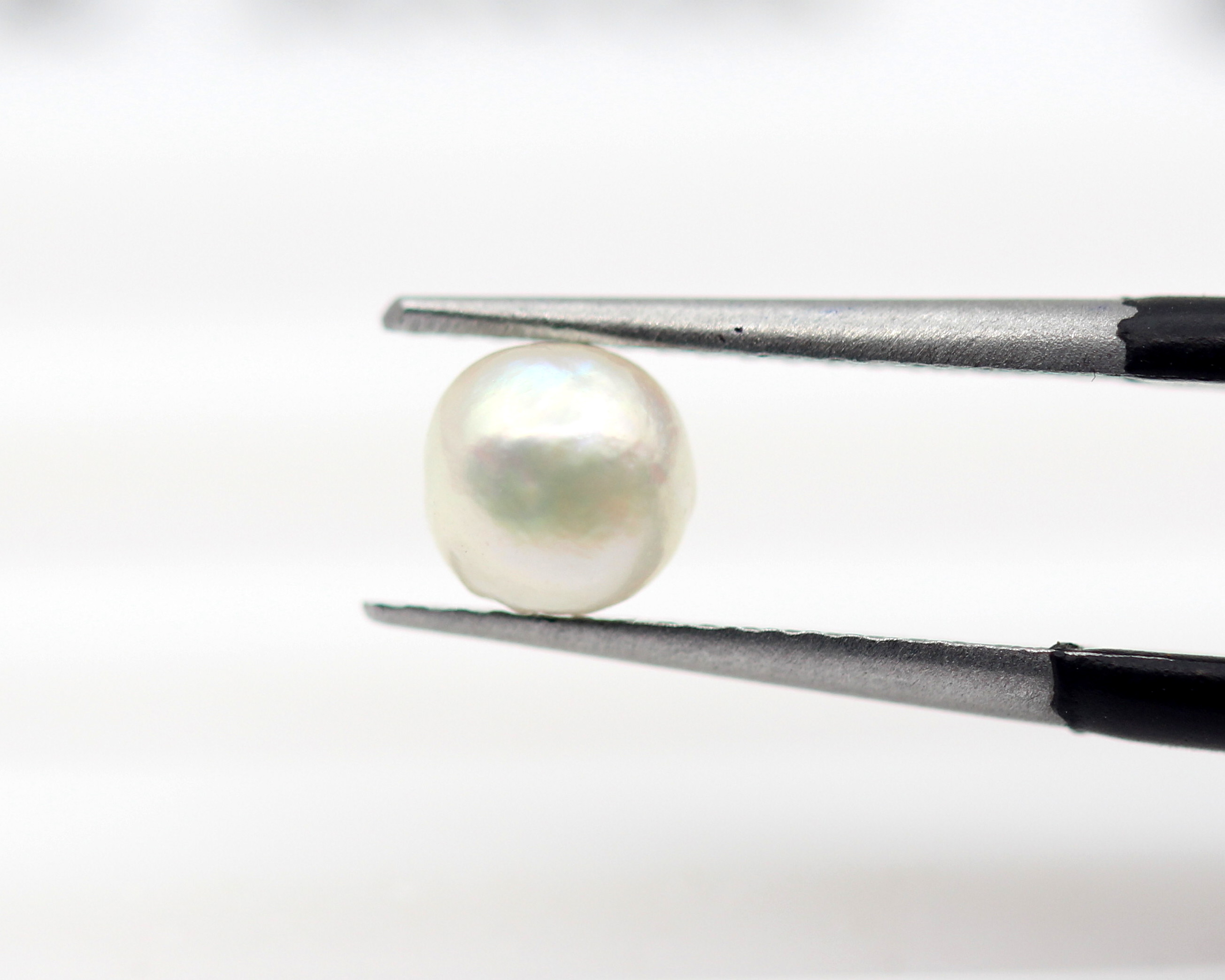 0.78 Ct Real Pearl Loose Natural Gemstone Round Cabochon Certified