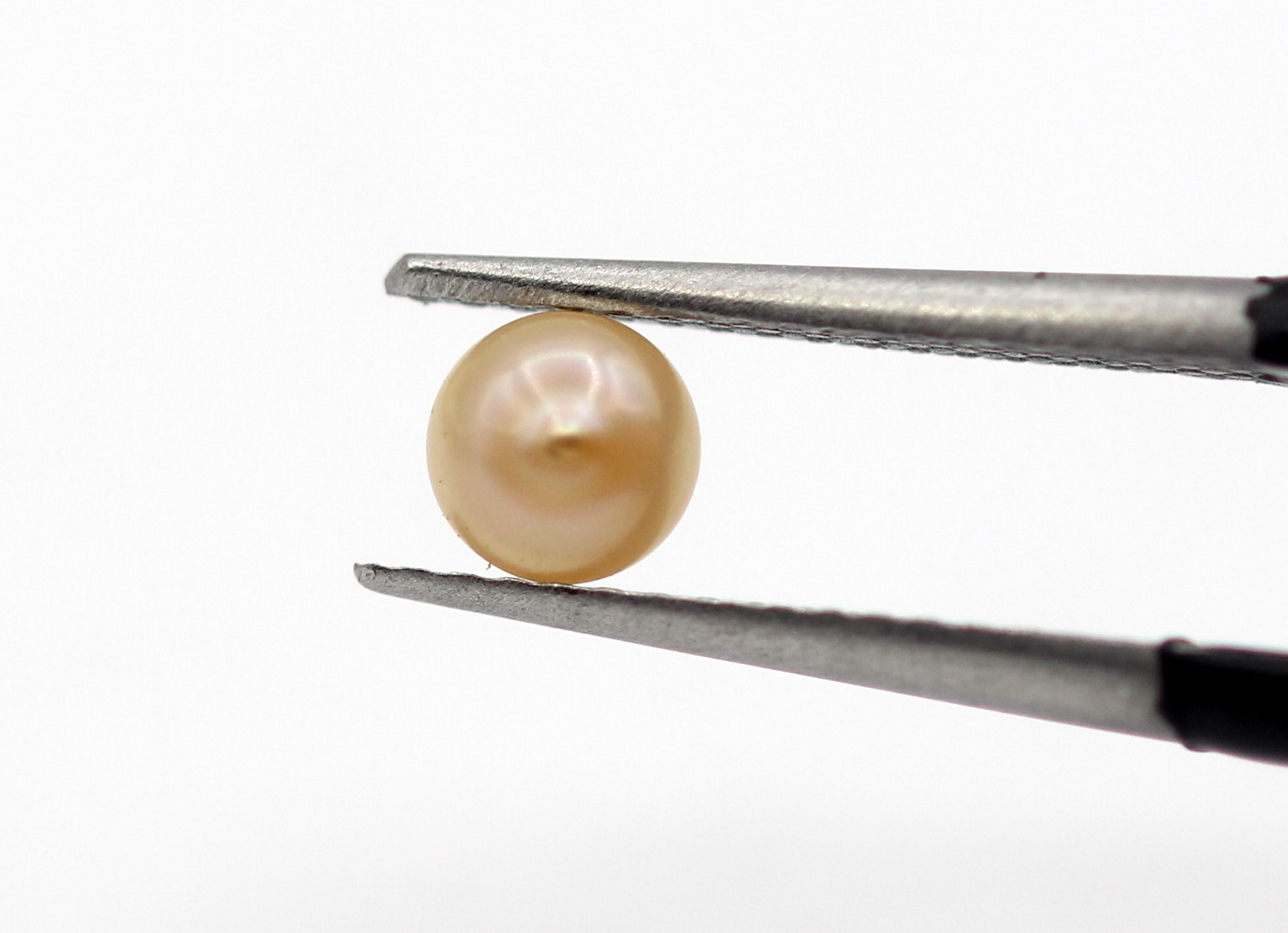 0.42 Ct Real Pearl Round Cabochon Cut Golden Cream Color Natural Pearl Certified