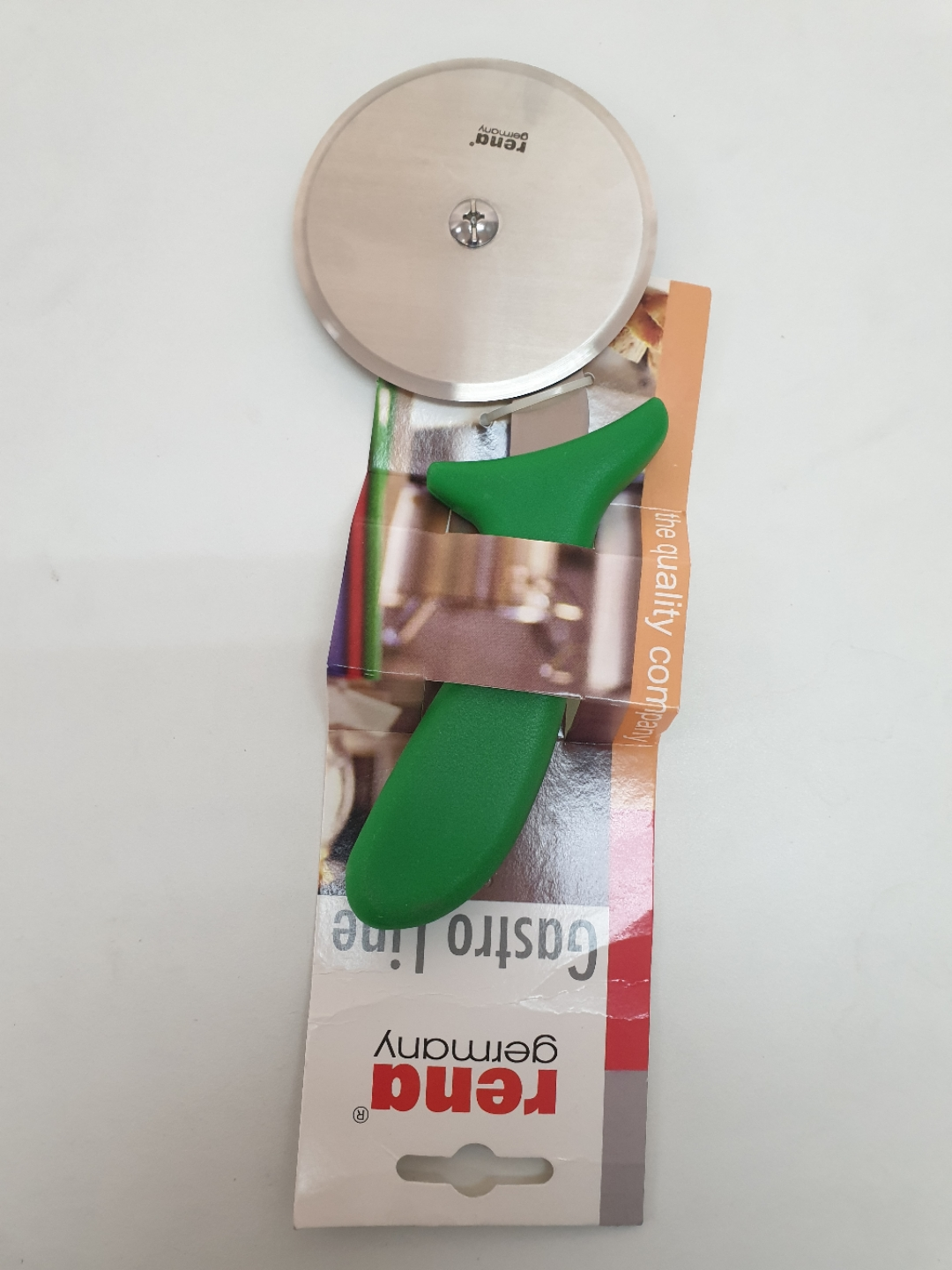 Rena Pizza Cutter 4 Inch Green Handle