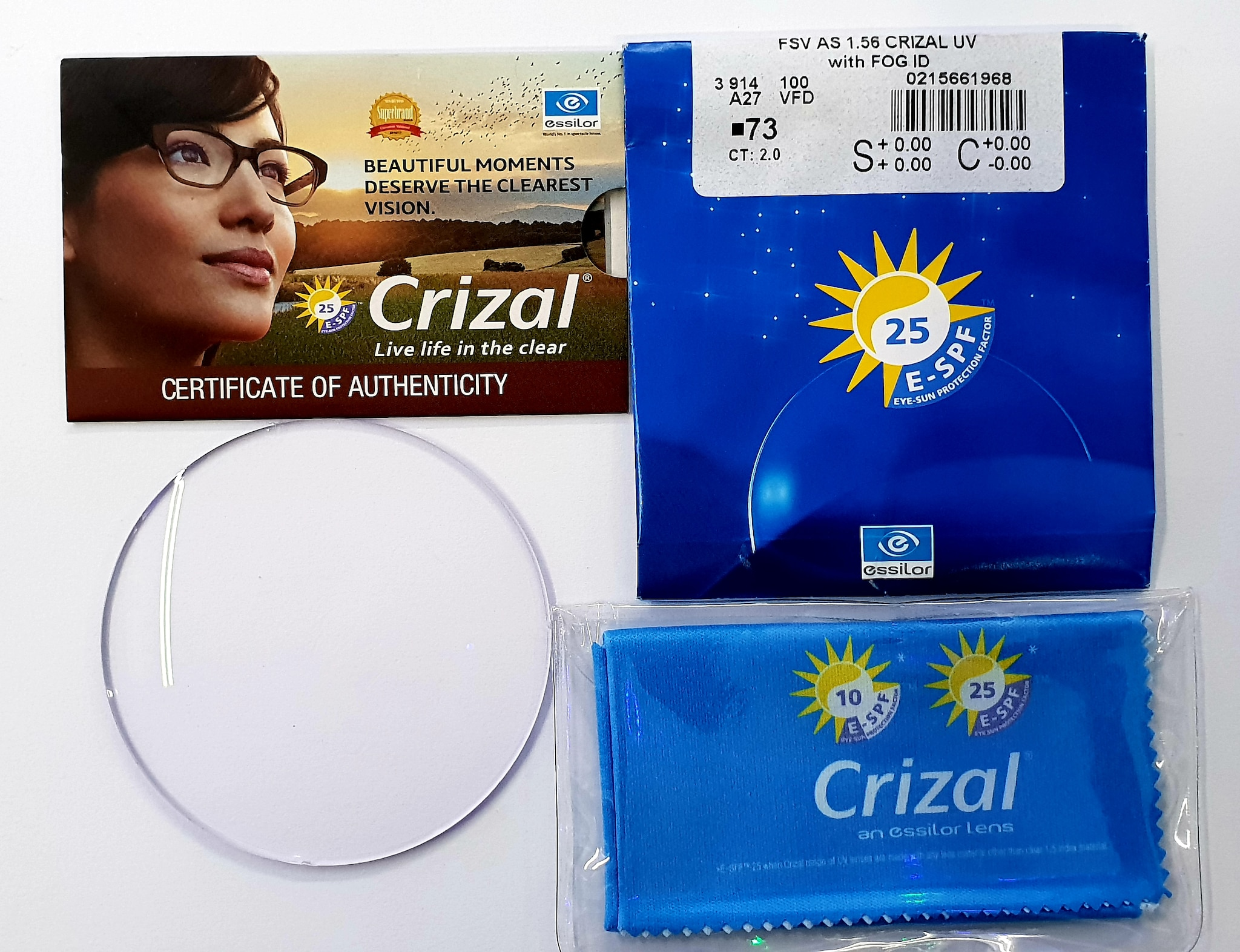 aa691a735889 ESSILOR BRAND CR-PLASTIC CRIZAL PREVENCIA LENS (Best Protection From  Harmful Blue-Violet Light) - BRAND SINGLE VISION LENSES - Clarity Optics