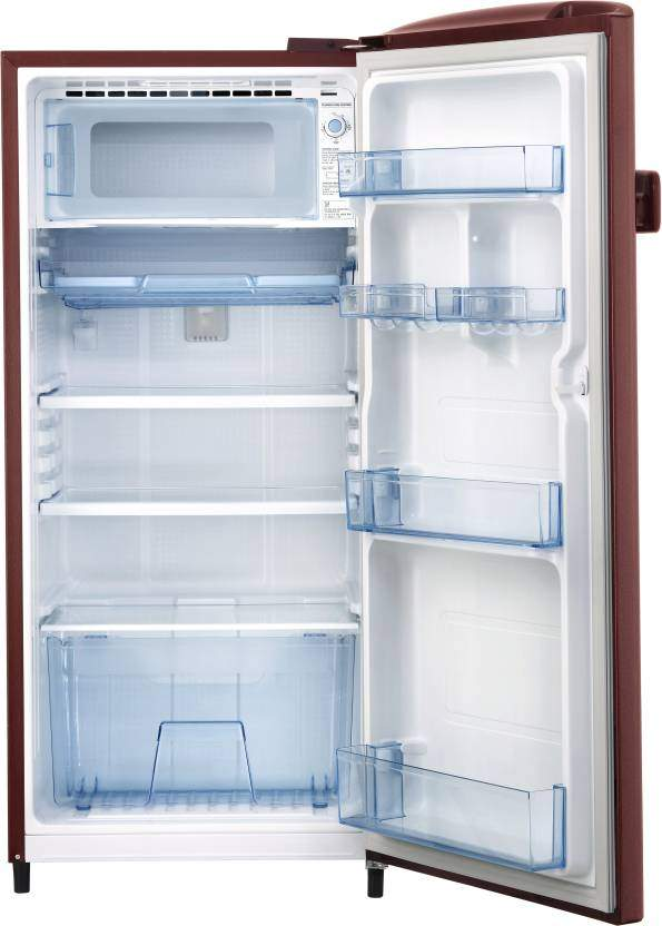 Samsung 192 L Direct Cool Single Door 4 Star Refrigerator (Saffron Red, RR20R1Y2YR8/HL)