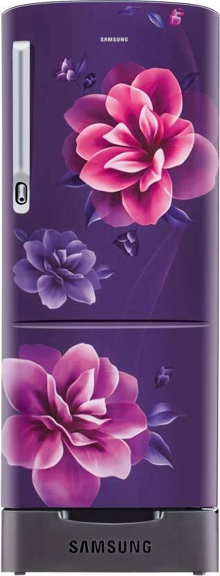 Samsung 192 L Direct Cool Single Door 4 Star Refrigerator (Camellia Purple, RR20R182YCR/HL)