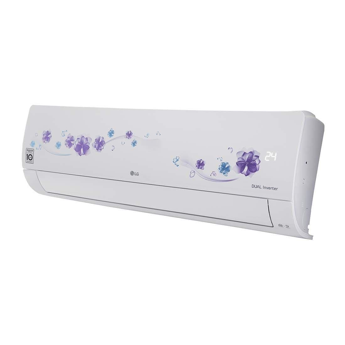LG 1.5 Ton 5 Star Inverter Split AC (Copper, KS-Q18FNZD, Floral White)