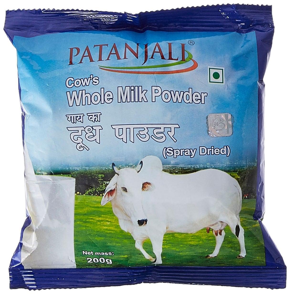 Patanjali Cow's Whole Milk Powder 200 Gm