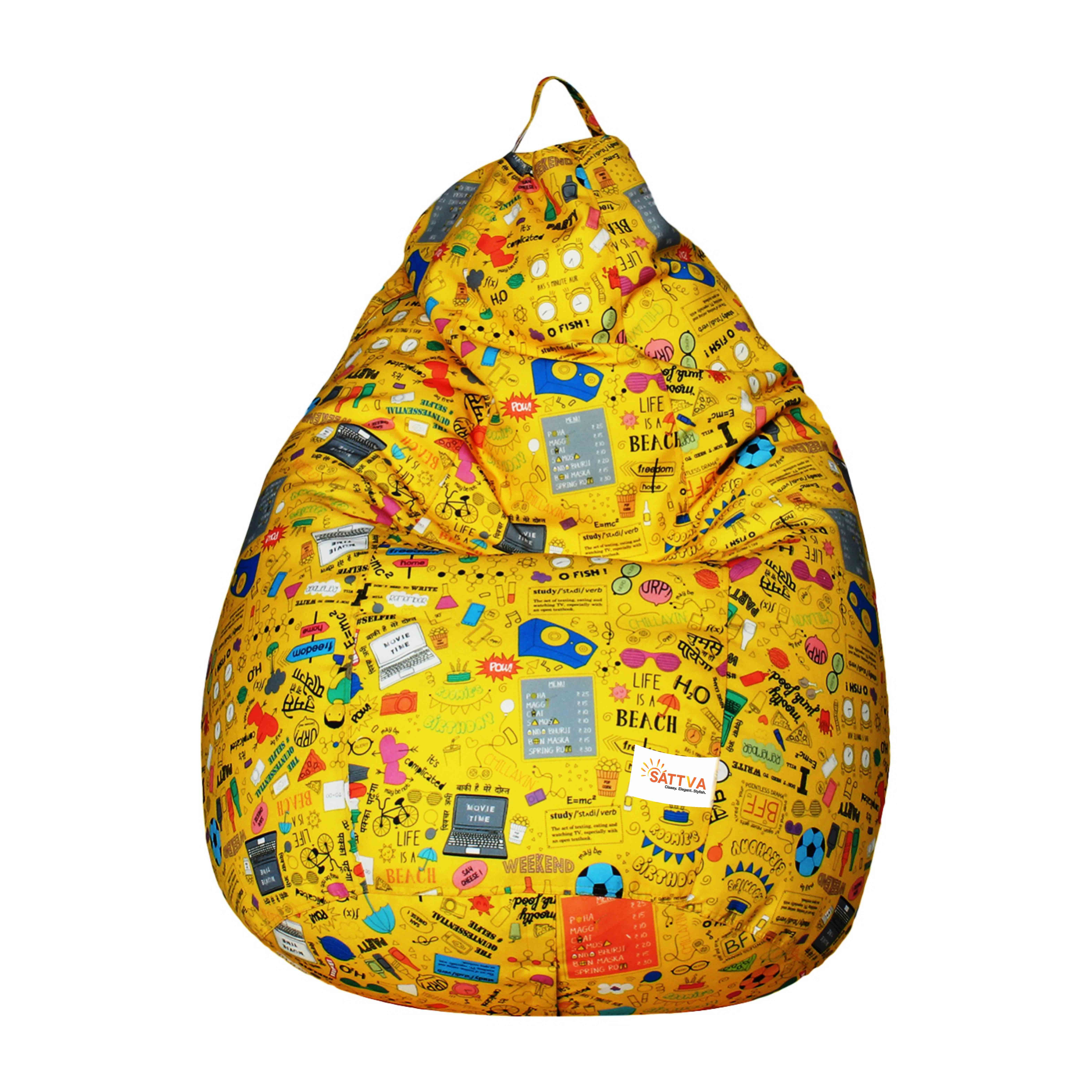 Sattva Classic XXL Bean Yellow Youth-With Beans