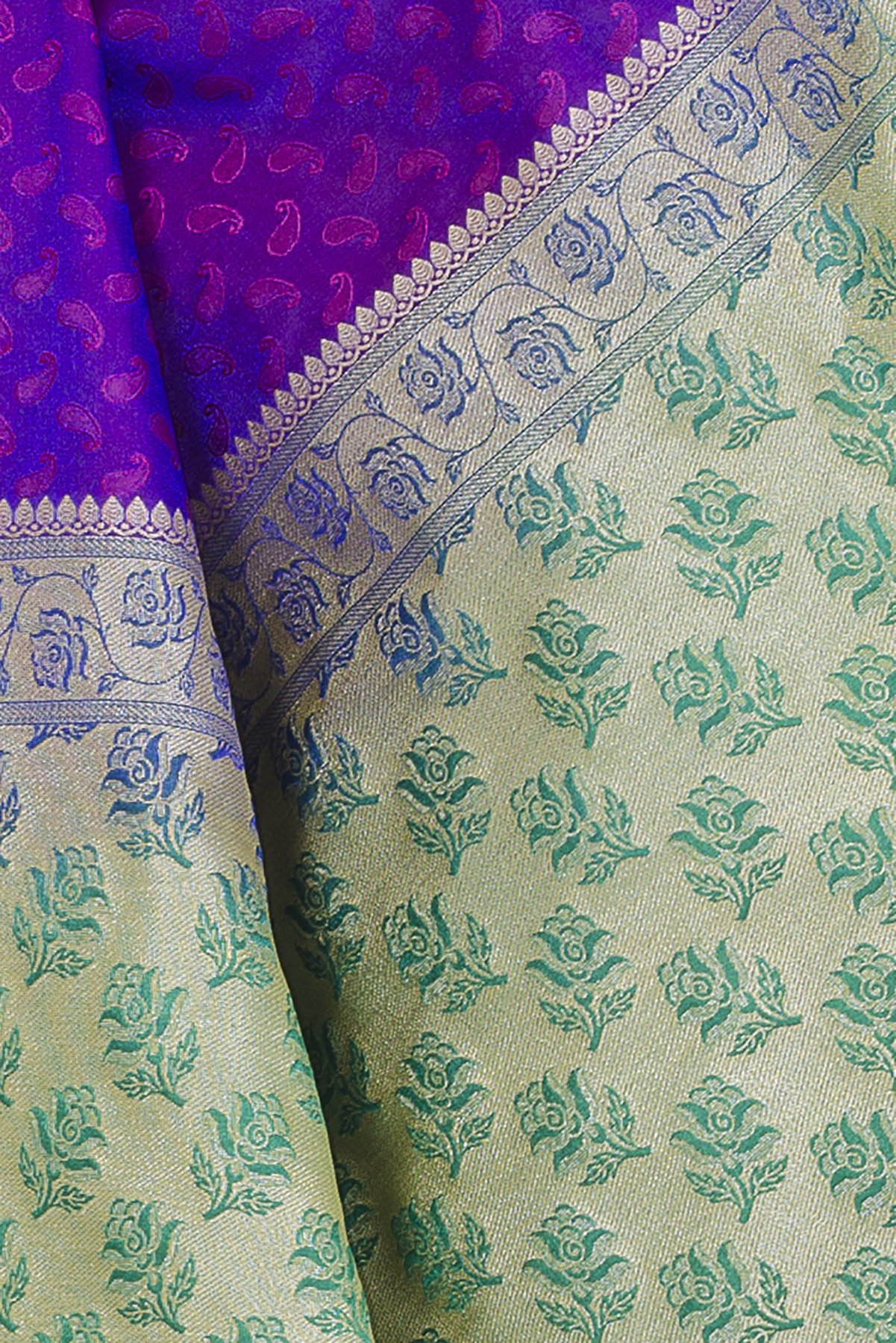 Kamila Creation Paisley Banarasi Poly Silk Saree