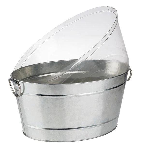 APS 36096 Beverage Tub Dimensions 32 X 50 Cm Height 23 Cm Volume 18 L Colour Stainless Steel Material Metal, Galvanised, PVC