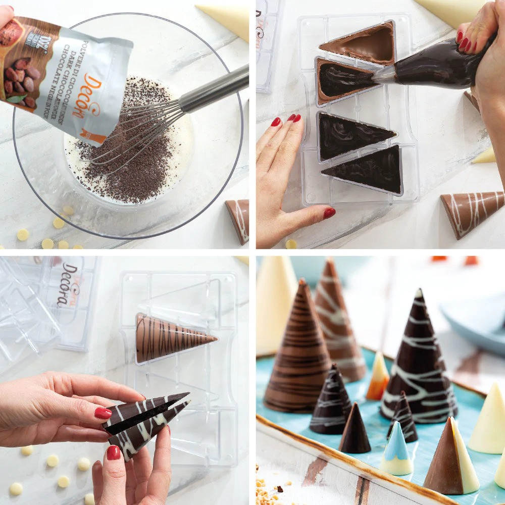 DECORA 50149 Cone Chocolate Mould 20 Cav Ø 20 X 30 H Mm 200 X 120 X 22 H Mm 50149