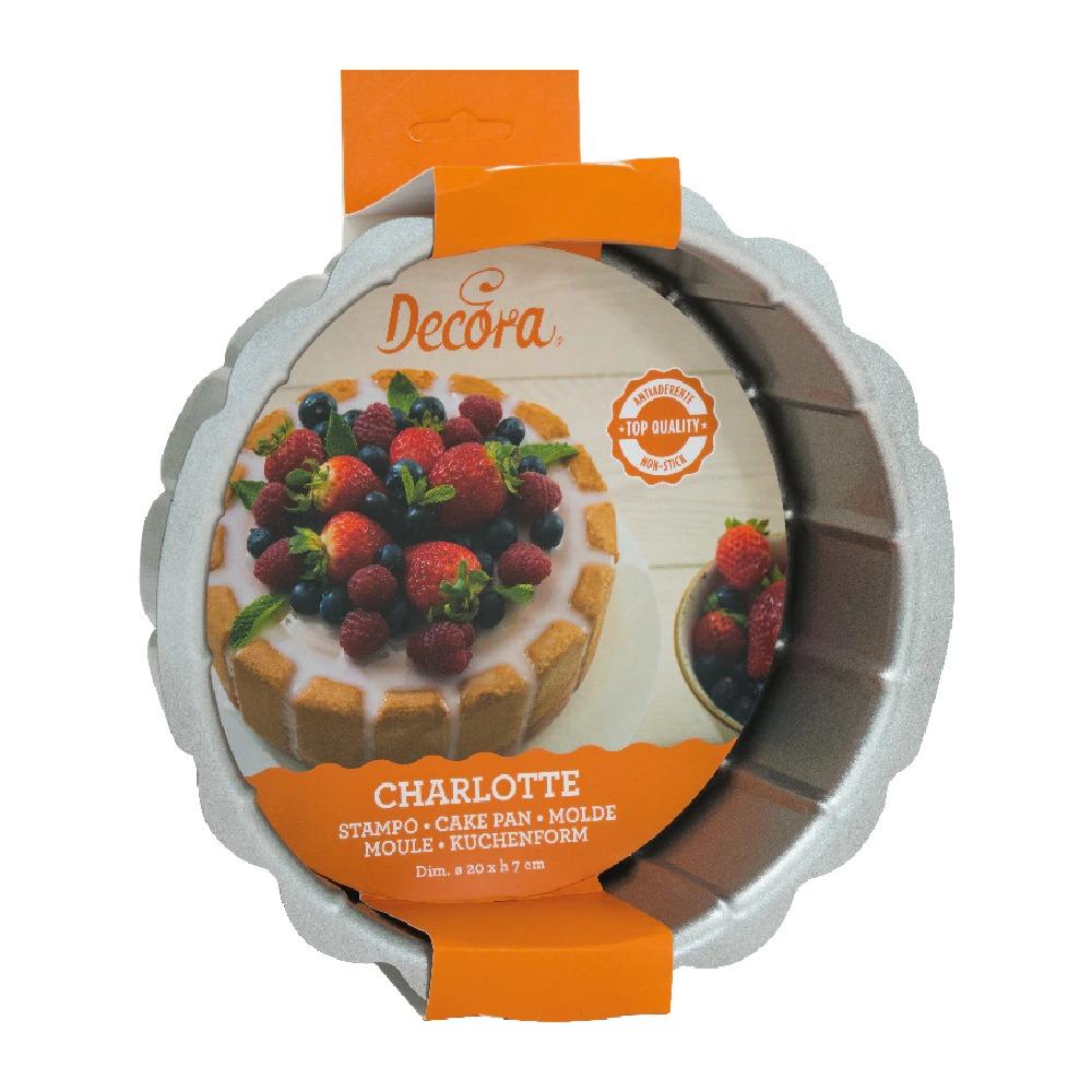 DECORA 70020 Charlotte Non-Stick Cake Pan Dimension : ø 20 Xh 7 Cm