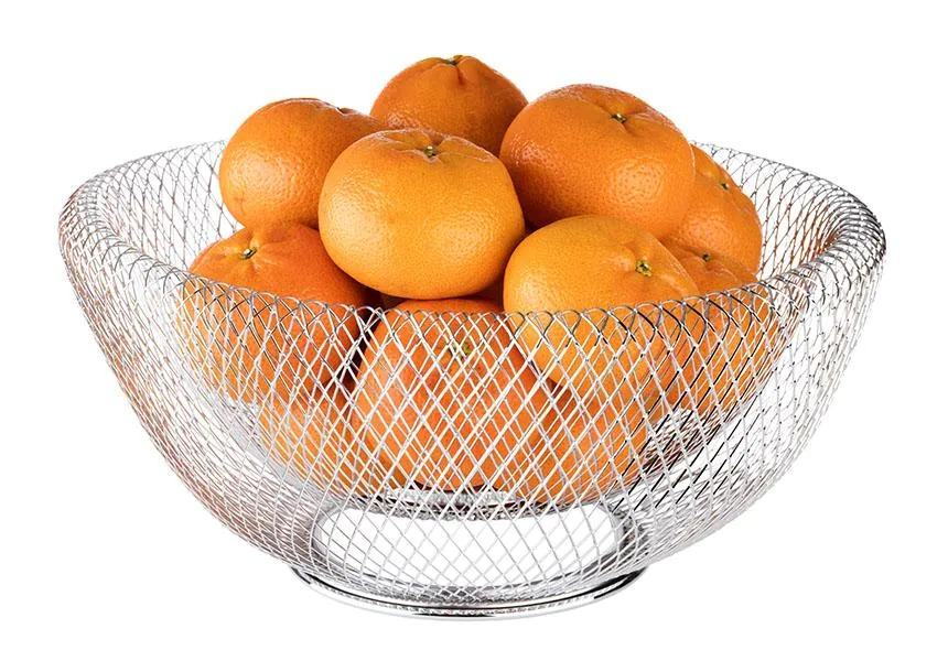APS 30205 Wire Basket -Wire- 31 X 31 Cm Height 14 Cm Colour Stainless Steel Material Metal, Chromed