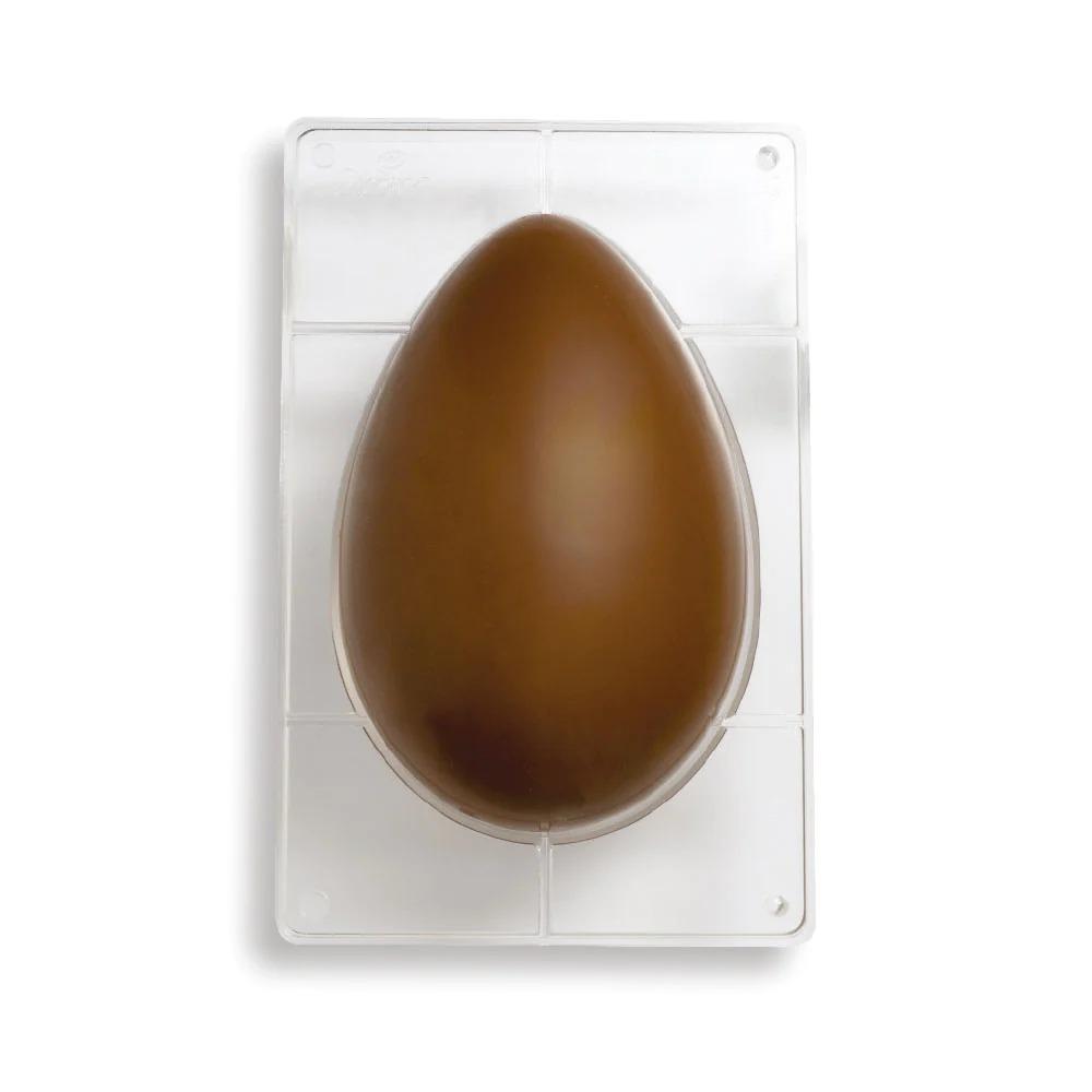 DECORA 50063 Egg Polycarbonate Mold 1 Cavity Of 195 X 295 X 95 H Mm - Mold Size 350 X 230 X 20 H Mm Cavity - 750g