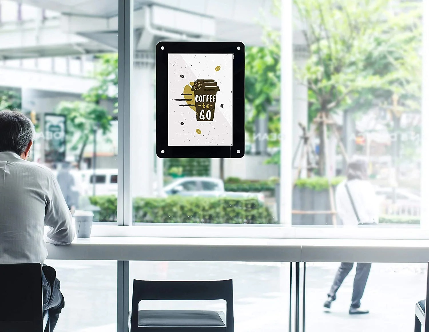 SECURIT PFW-A3-BL Posterframes - Windowsecurit® Window Poster Frame - Double Sided And Uv Resistant - 4 Suction Cups Included - A352,3X39,8X0,2Cm | 0,5Kgblack Pfw-A3-Bl
