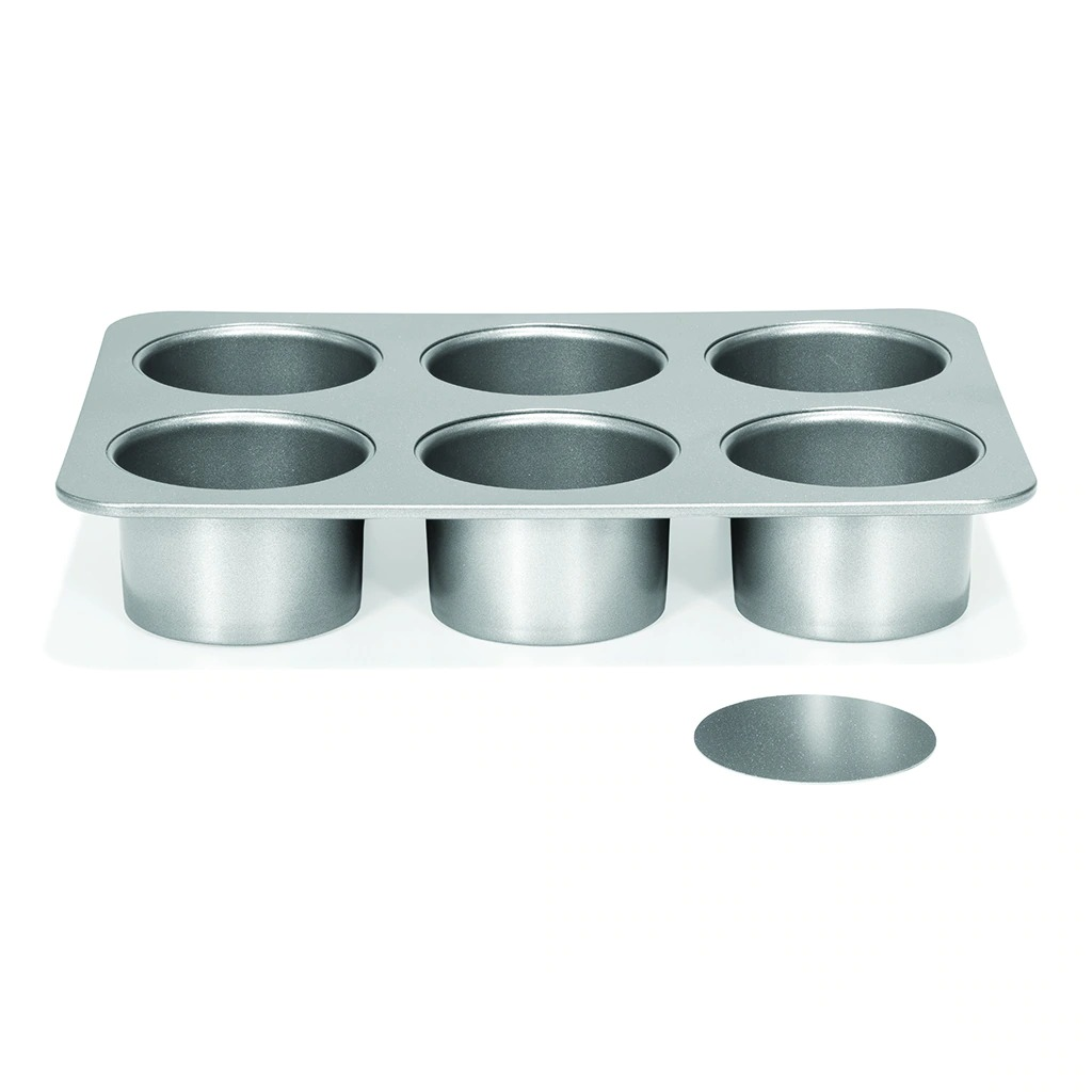 """PATISSE 3588 Mini Cheesecake Pan With Removable Bottoms 6 Cup Ø 8 Cm 3 1/8"""" SILVER-TOP"""
