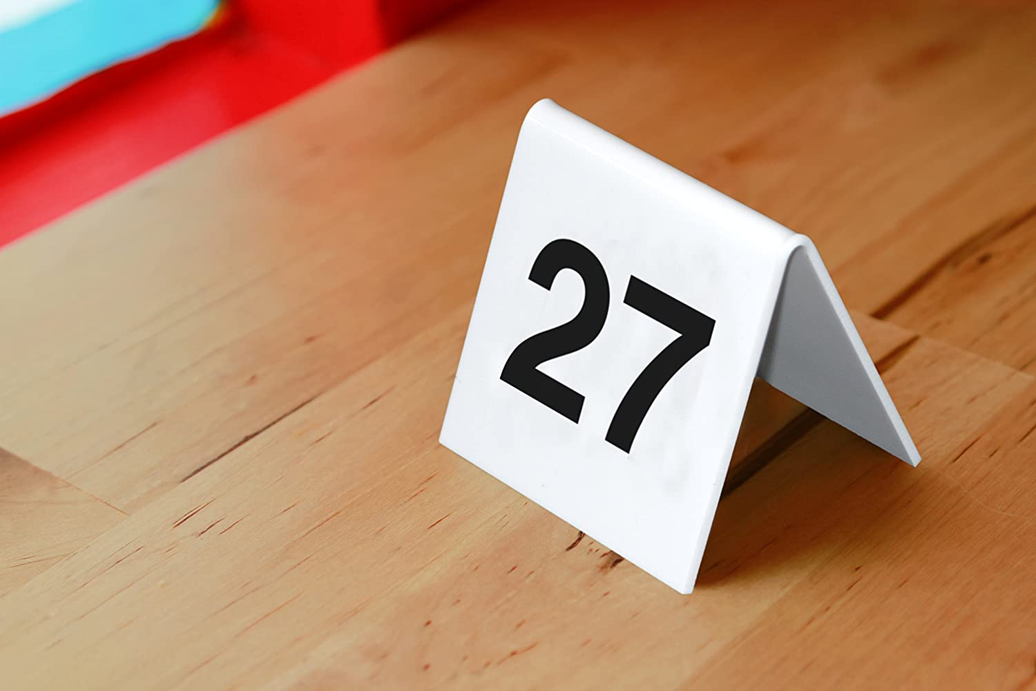 SECURIT TN-21-30-WT Table Boards - Accessories Signssecurit® Table Numbers From 21-30 - White Acrylic Standards With Black Numbers - Set Of 10 5,2X5,2X4,5Cm | 0,1Kgwhite