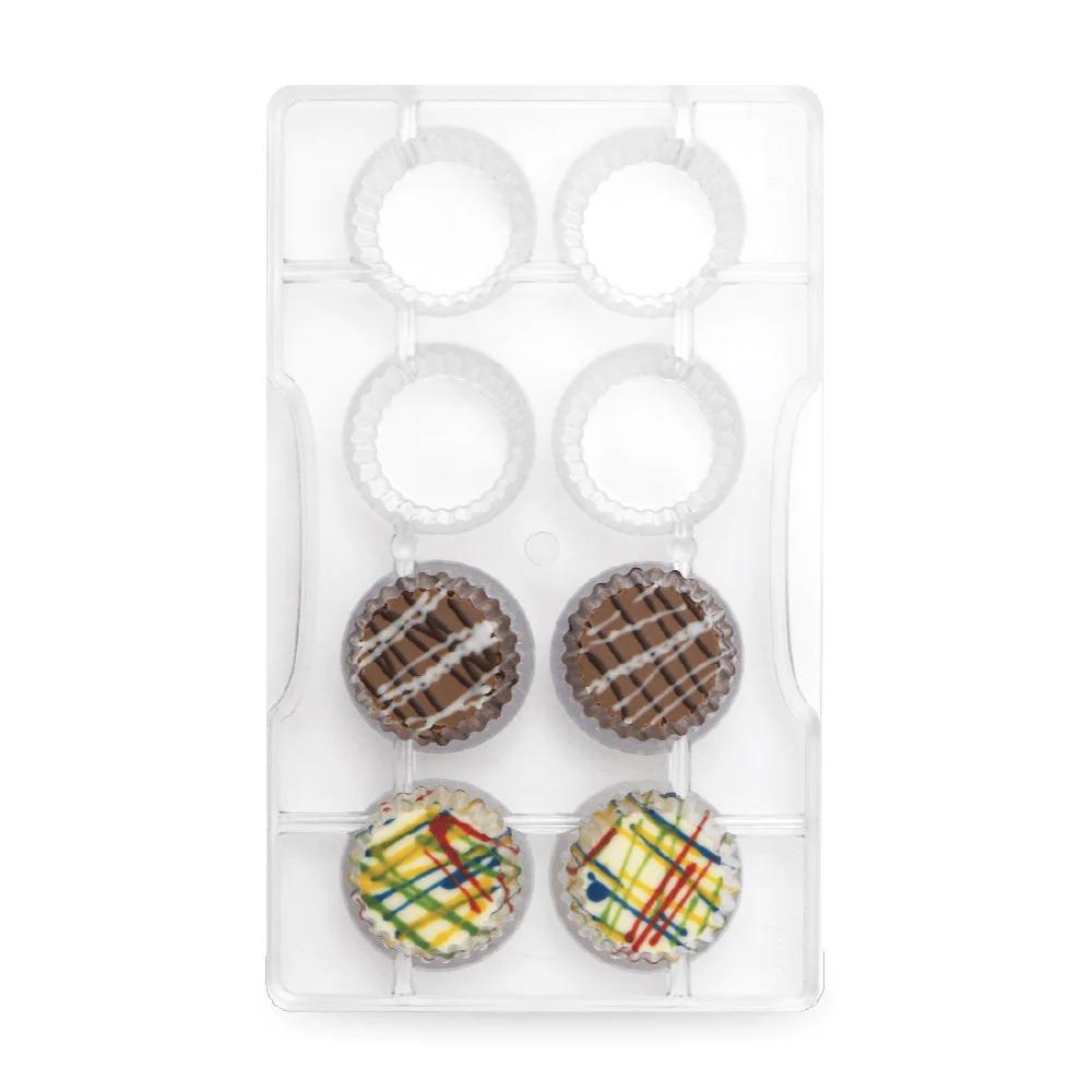 DECORA 50101 Medium Baking Cups Dimension : Mold 200 X 120 X 20 H Mm 8 Cavity Of ⌀ 30 X 20 H Mm