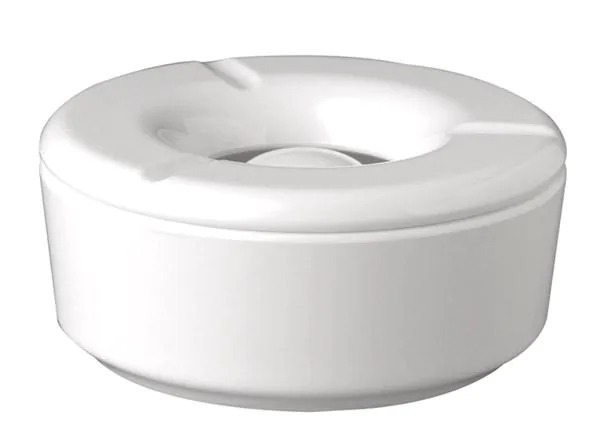 APS 83488 White Ash Tray Ca. 11,5 Cm , Height 5 Cm Melamine, Unbreakable Durable, -50°- +70°C Top Quality, Looks Like Real Porcelain, Dishwasherproof 83488
