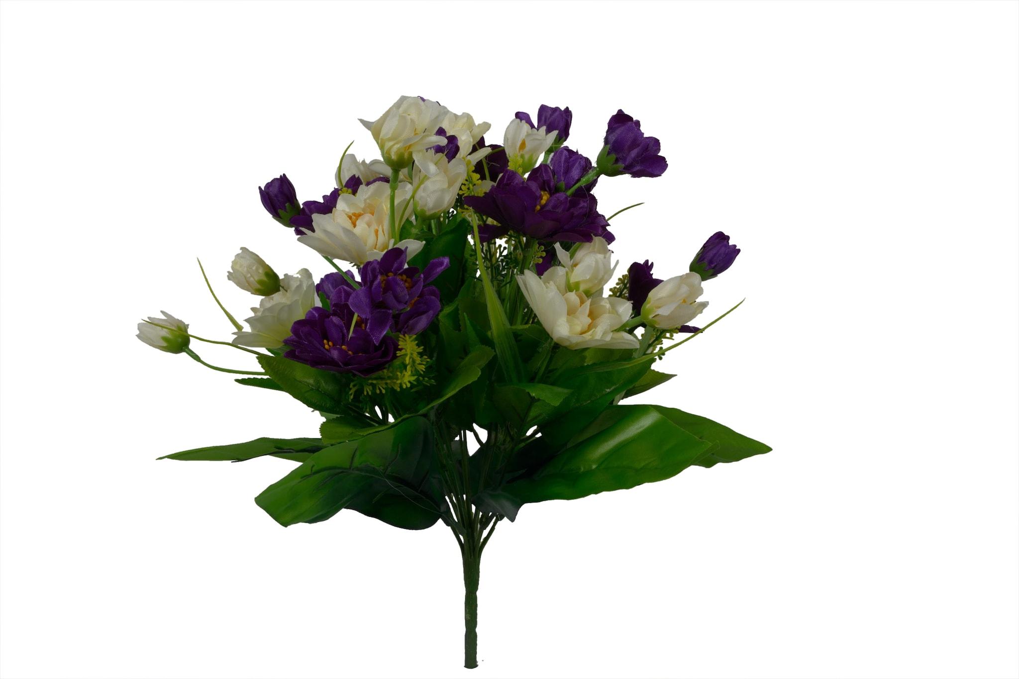 Artificial Lotus Flower Bunch N6C2