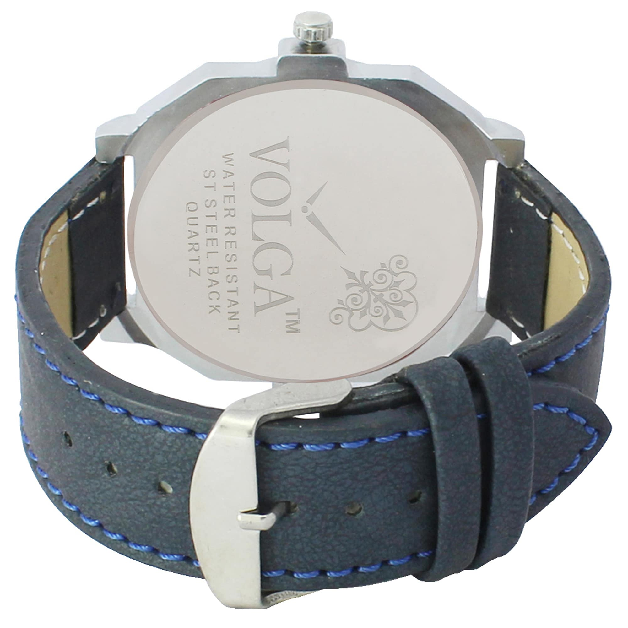 New Arrival Fashionable & Professional Blue Dial Black Strap Wrist Watch