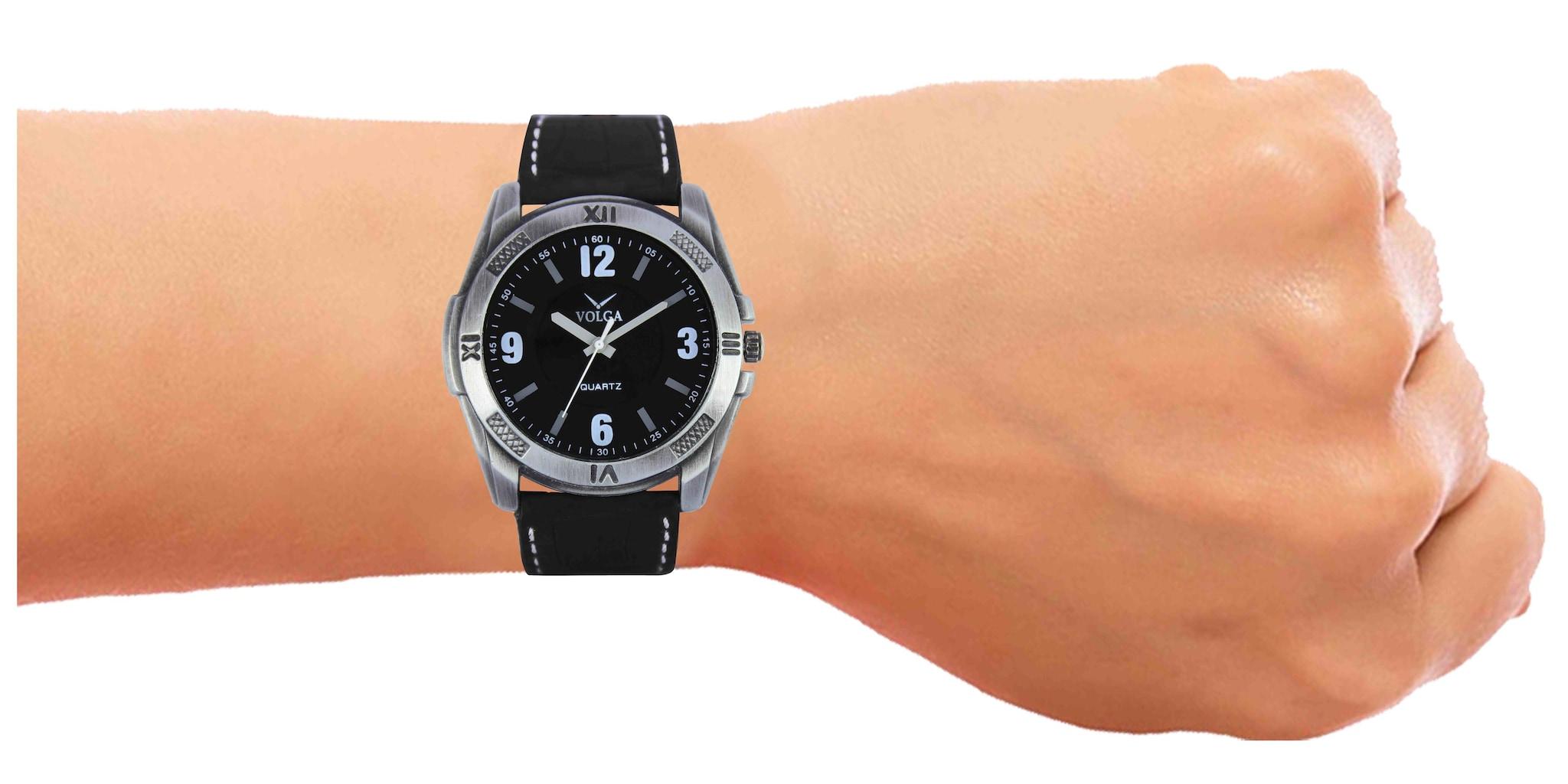 New Arrival Volga Analogue Black Dial Men's Designer Wrist  Watch