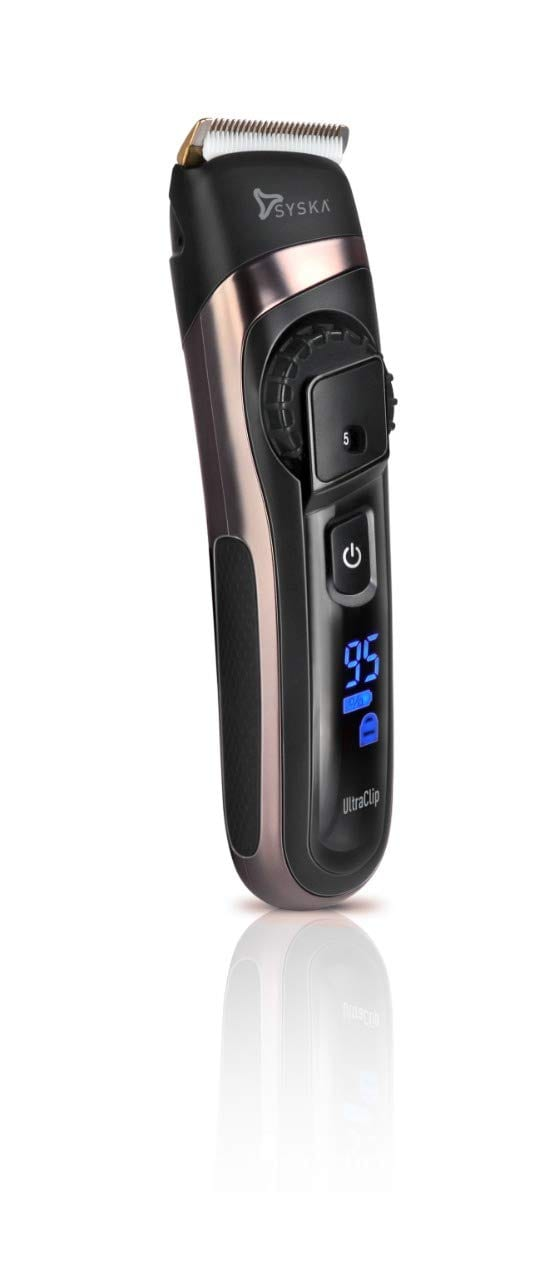 SYSKA HB100 Ultraclip Hair Clipper With Super Fast Charging, Runtime-90Mins, 20 Length Settings (Black)
