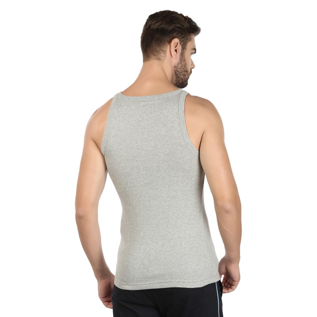 Macroman Jazzy Sports Vest (XL,Grey Melange)