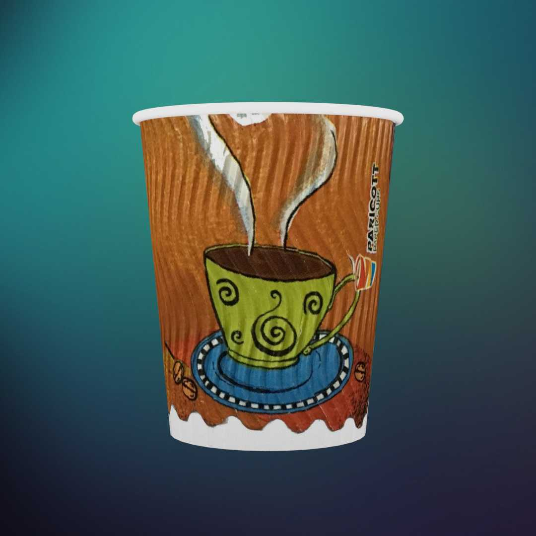 200ml Rippled Multi Color Paper Cup (Rippled Cup,500)