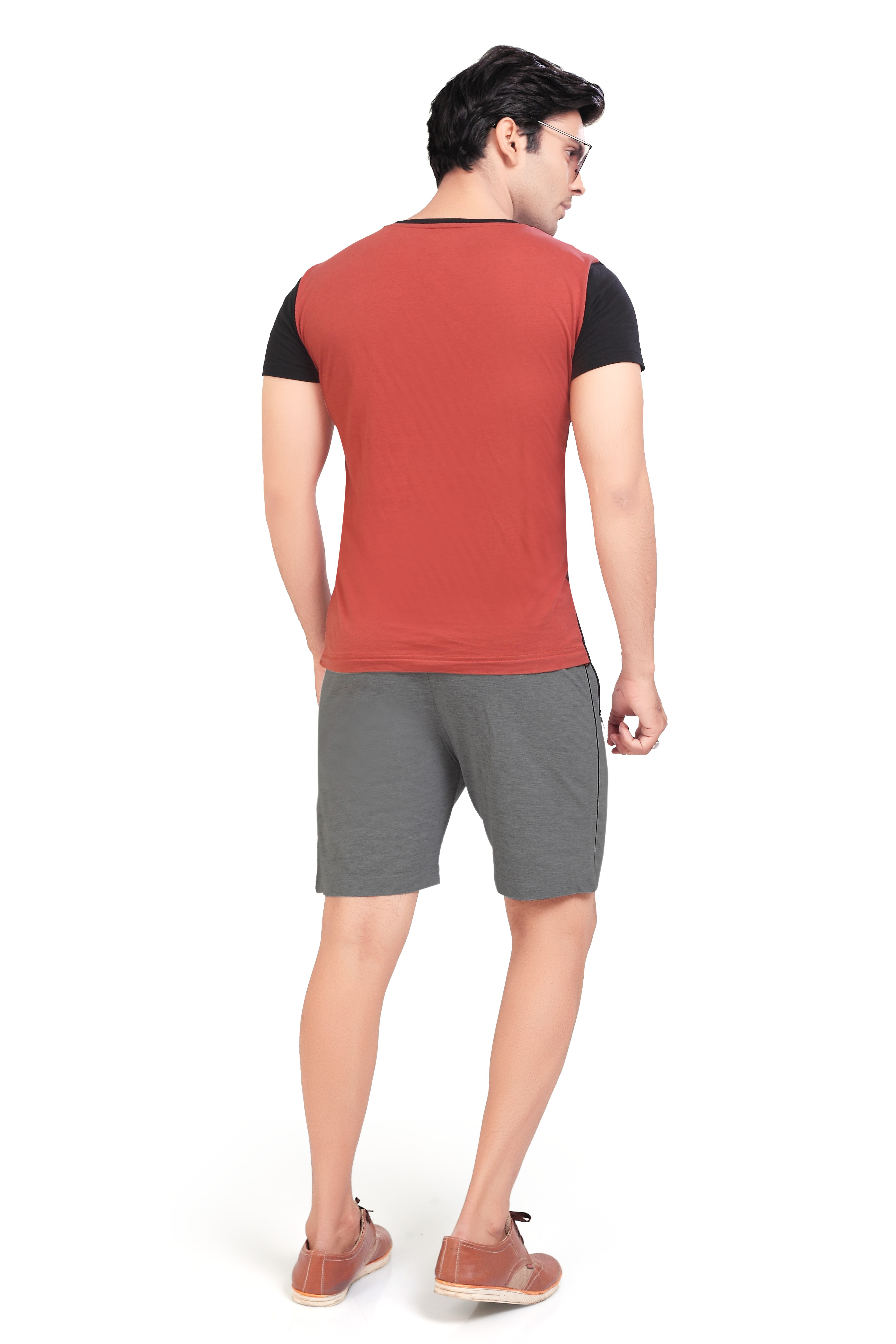 Cotton Mid Rise Shorts With Insert Pocket For Men (5XL, Dark Grey)