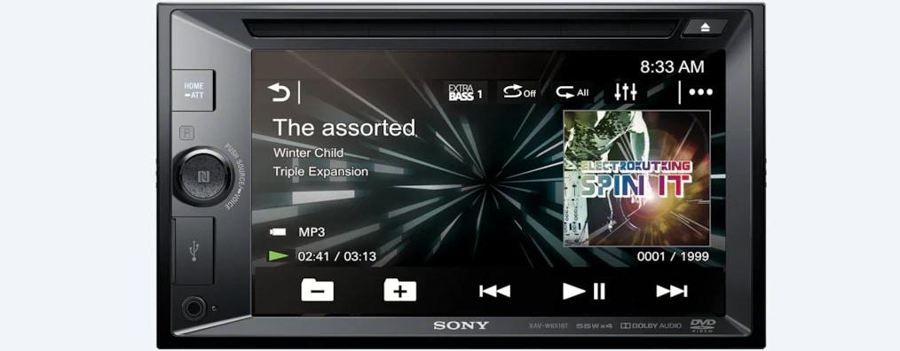 Sony 15.7 Cm (6.2) LCD DVD Receiver XAV-W651BT