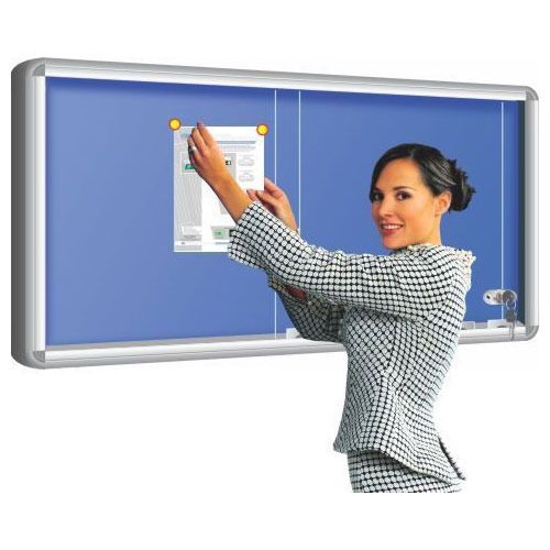 Alkosign Sliding Glass Cover Pin Boards