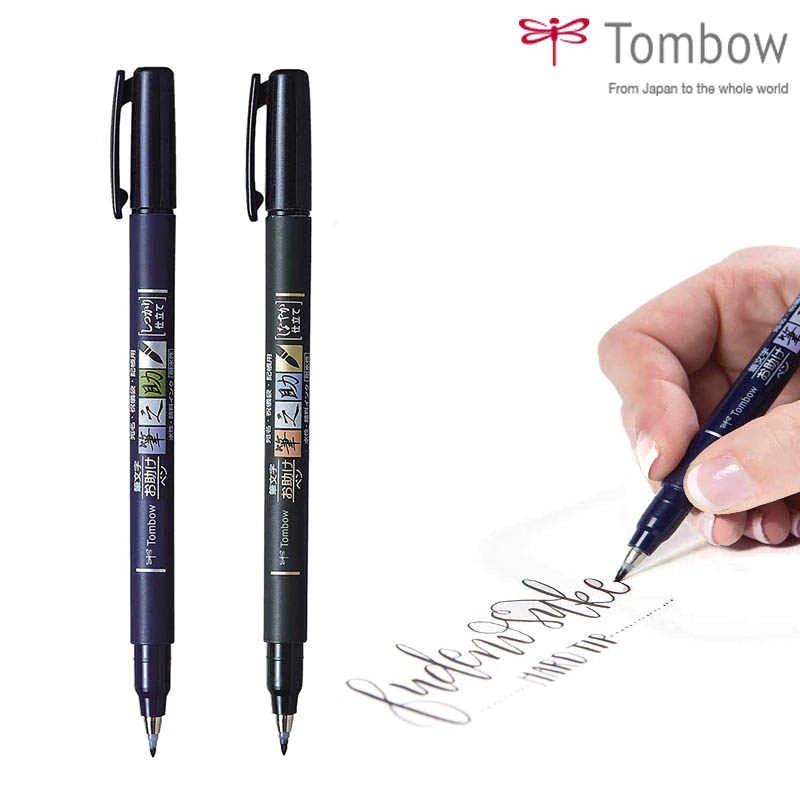 Tombow Fudenosuke Calligraphy Brush Pens Set Of 2 - Hard And Soft
