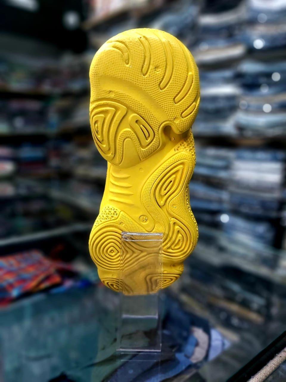 Men's Shoes Stylish Sports Wear Black & Yellow Shoes SS03 Size 7