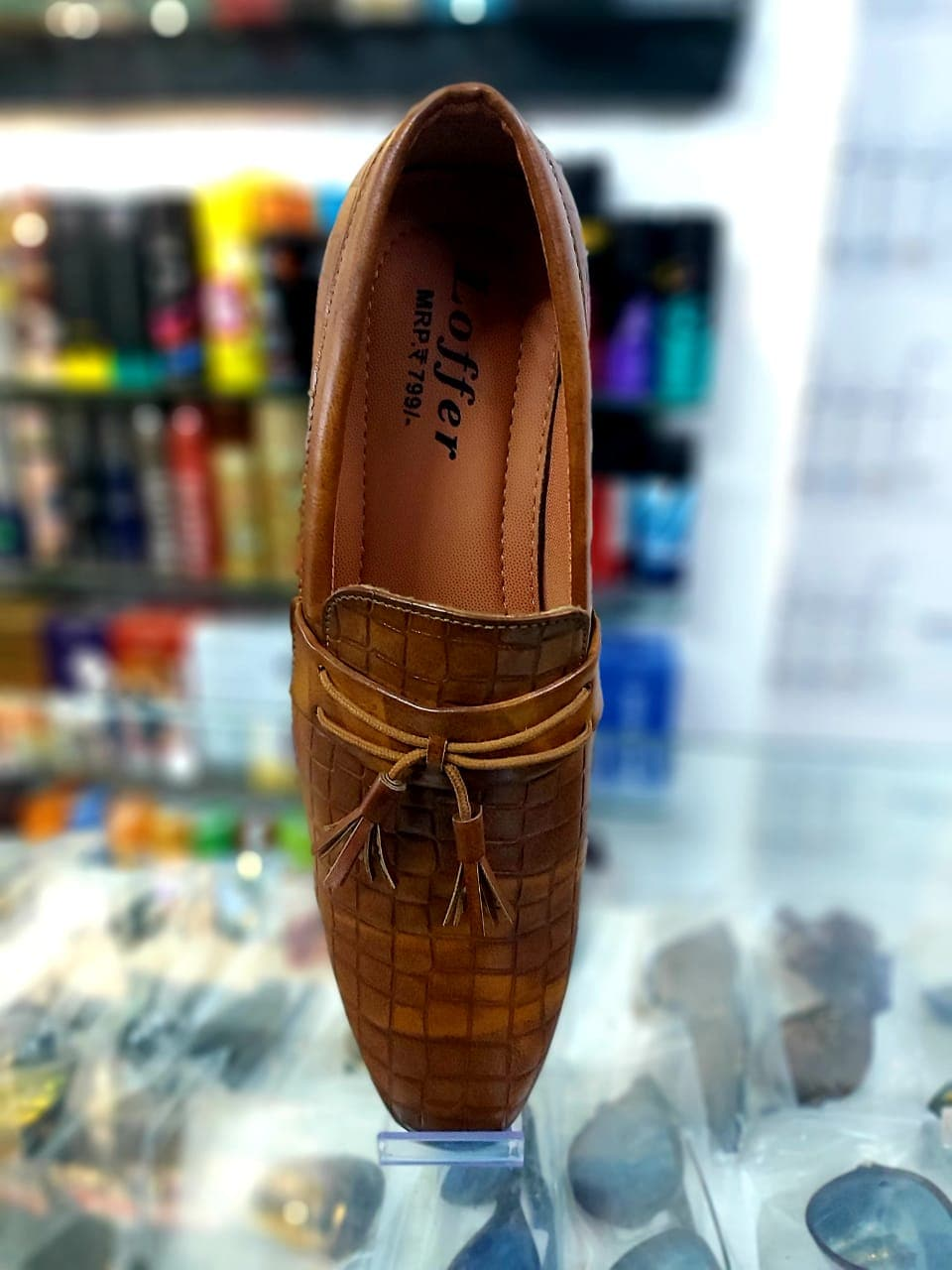 Men's Shoes Stylish Party Wear Tan Loafers Shoes SS02 (10)