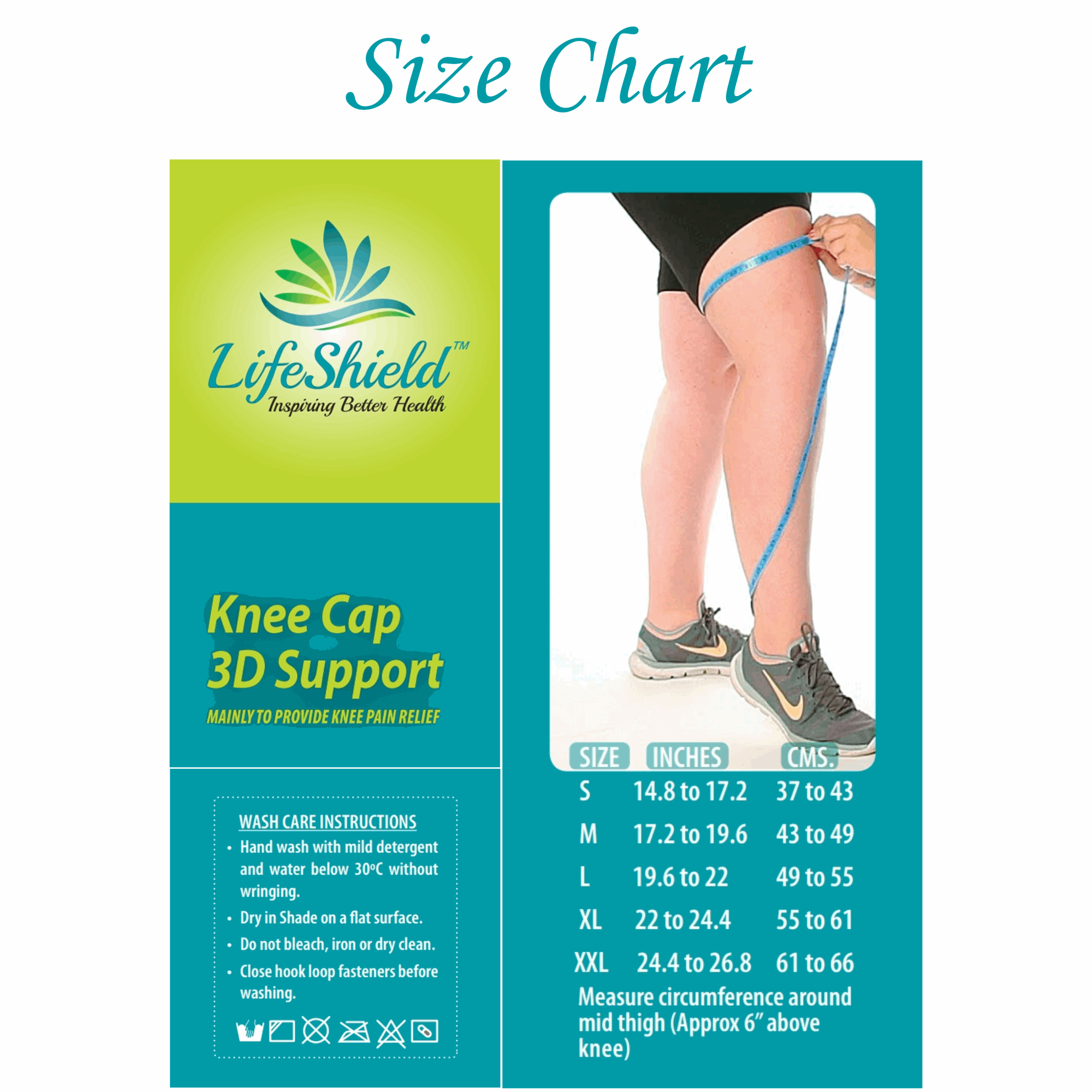 Lifeshield Knee Cap Support 3D Design (Pair): For Best Compression And Pain Relief In Knee Joints Arthiritis While Looking Good With 3D Design (X Large)