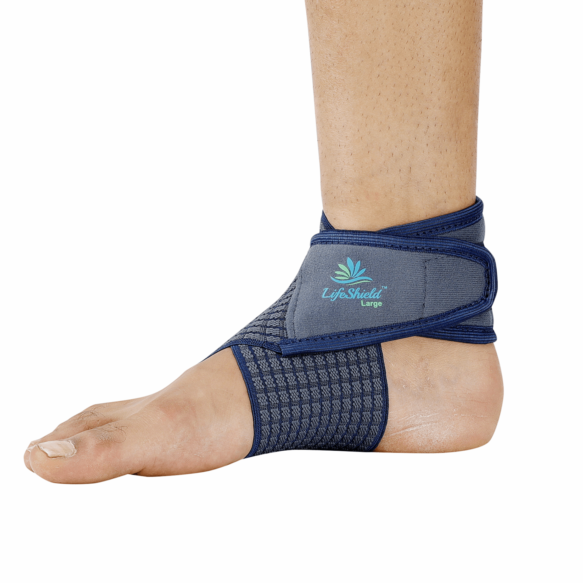 Lifeshield Ankle Binder Strap Belt: For Best Grip To Ankle While Jogging Or Sprain (Small)