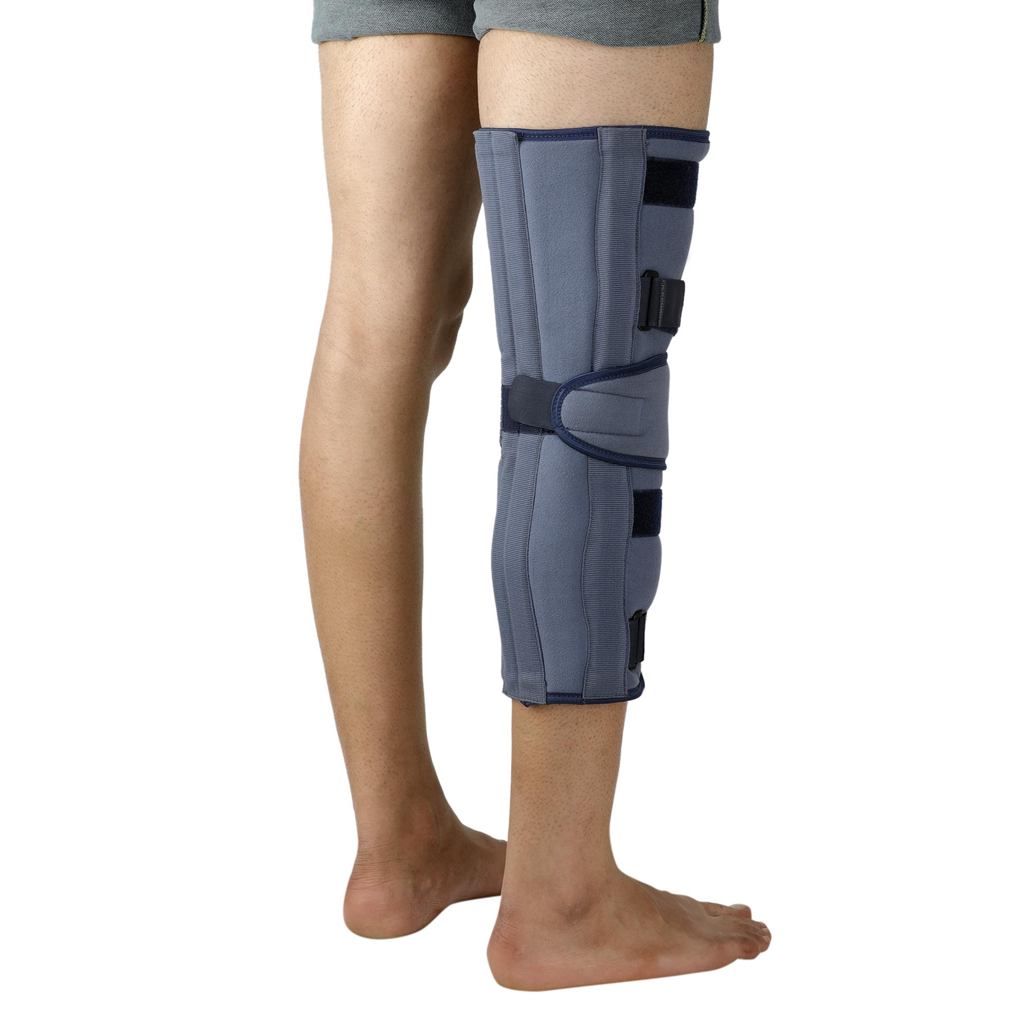 """Lifeshield Knee Immobilizer 19"""": Used For Restricting Leg & Knee Movement After Surgery Or Injury (X Large)"""