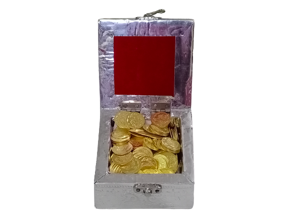 DIVINE Pooja Celebrations Lakshmi Kubera Brass Pooja Coins Gold, Set Of 108 Pooja Coins, Weight: 280gms (Box)