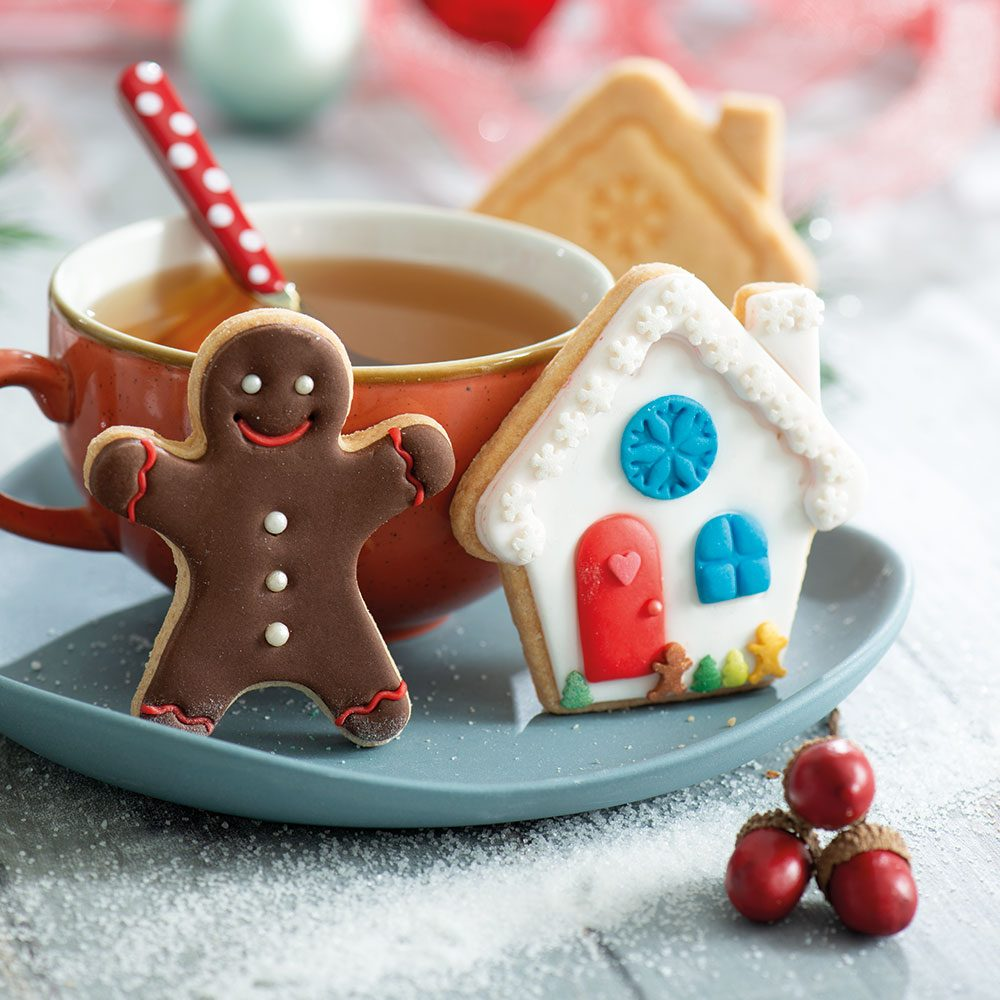 GINGERGREAD MAN & HOUSE COOKIE CUTTER SET OF 2 8/7 X H 2,2 CM 255094