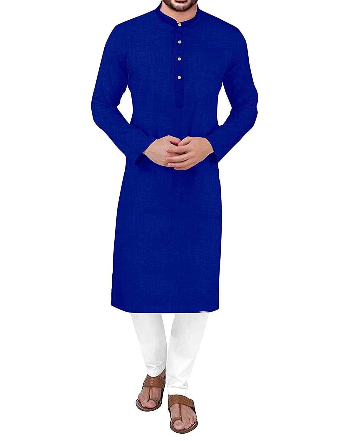 Men's Solid Straight Kurta & Pyjana (Plain) Colours: Baby Pink, Lemon Yellow, Dark Red, Peach , Nevi Blue, Orange, Turmeric Yellow, Dark Pink (38)