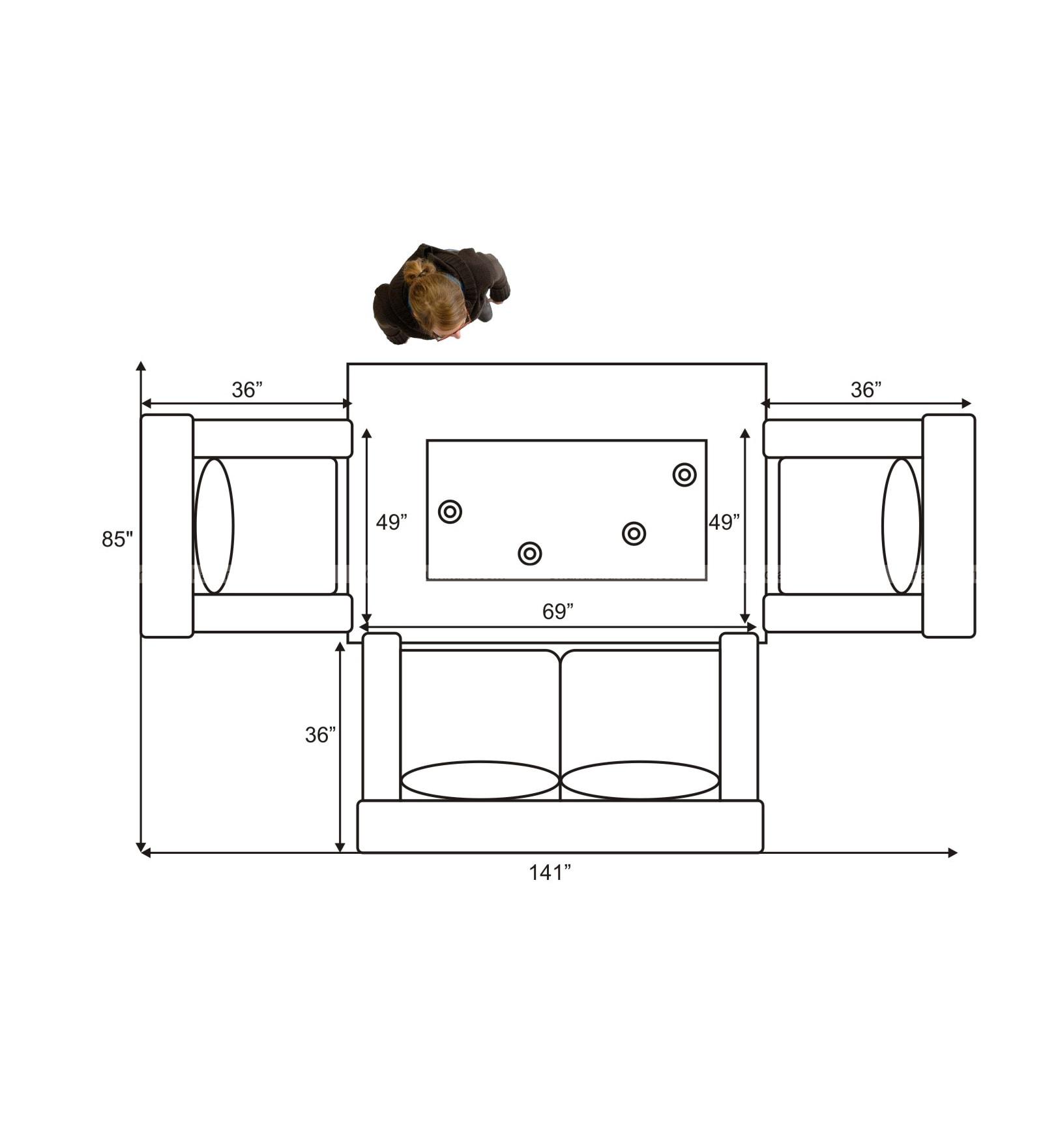 Chandra Furniture Soft Flappy Sofa Set In Lite Colour Lathrite