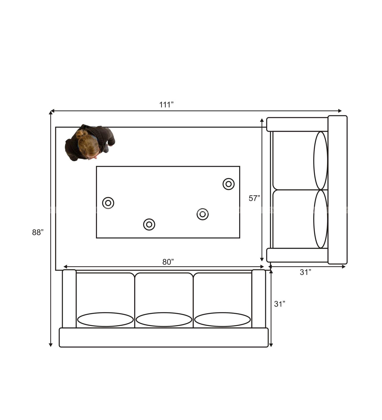 Chandra Furniture Caliber Sofa Set In Lite Colour Fabric