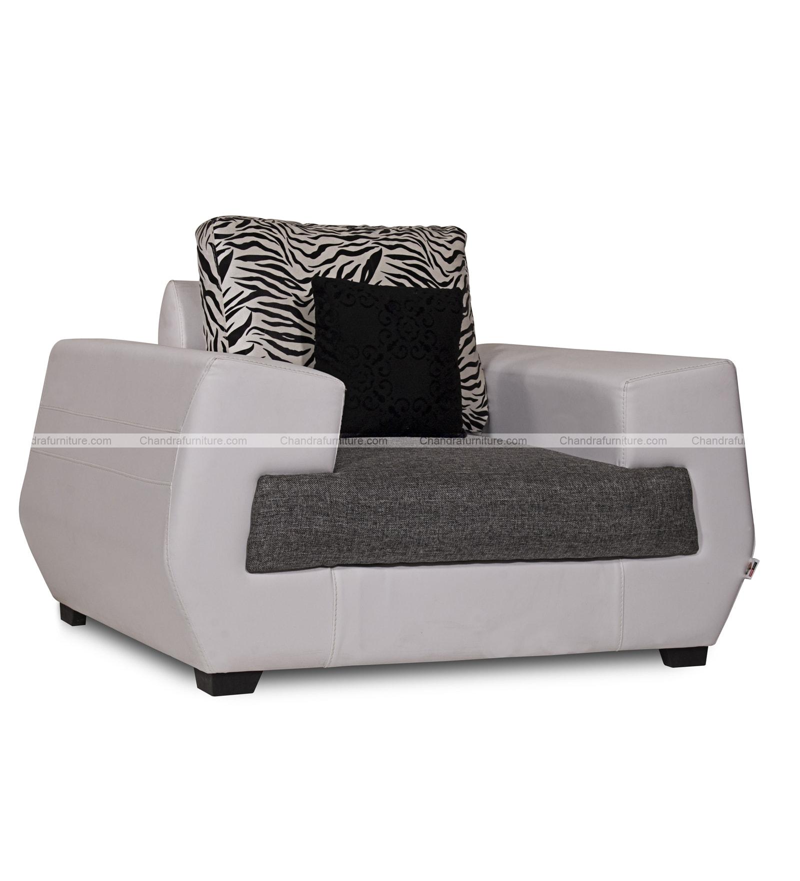 Chandra Furniture Vista Sofa Set In Fabric & Lathrite