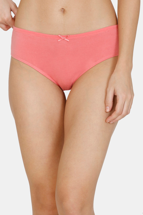 Zivame Hipster Low Rise Anti-Microbial Panty (Pack Of 3) (M, Purple-Tea-Blue)