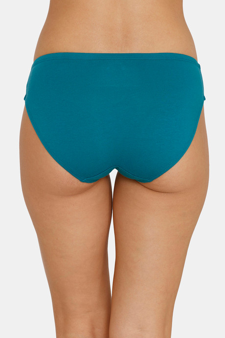 Zivame Hipster Low Rise Anti-Microbial Panty (Pack Of 3) (M, Ceramic-Rose-Blue)