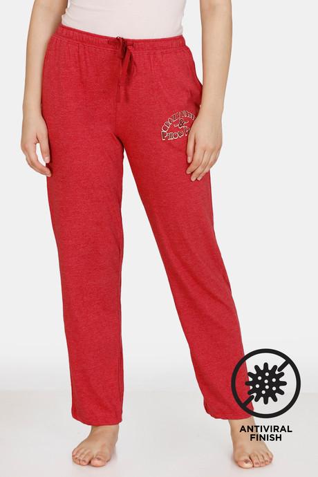 Zivame Queen Bee Antiviral Finish Poly Cotton Pyjama (XL, Rio Red)