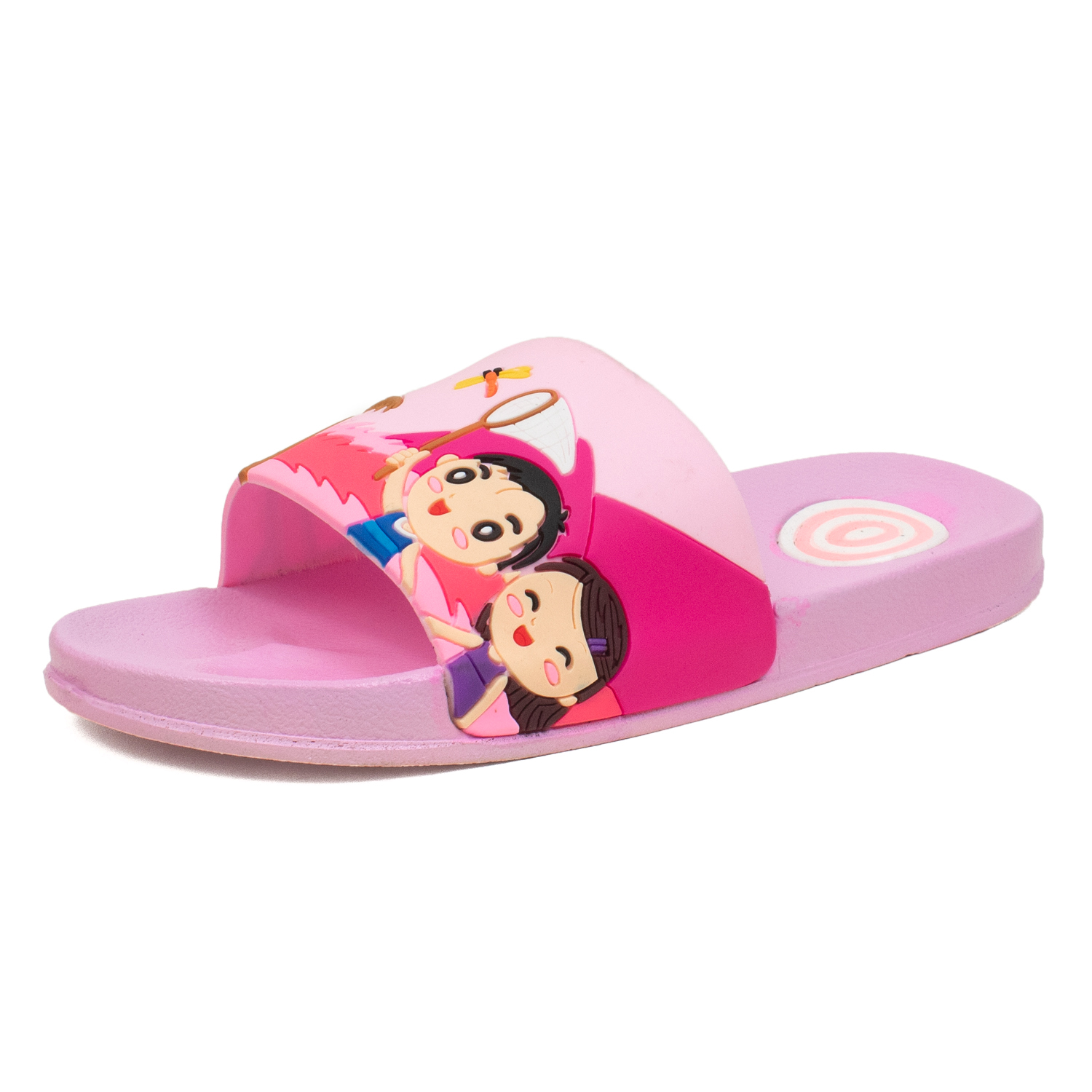 Foot Trends Casual Slippers For Kids B-G-Multi-31-35 (Multi, 31-35, 10 PAIR)