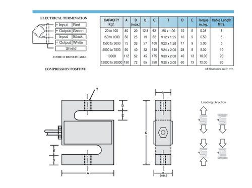ADI-20210 - SType Loadcell , 1T To 3T
